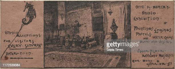 Exhibition Invitation 20th century Otto H Bacher Lithograph