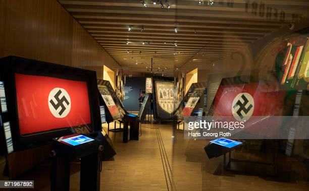 exhibition objects on the first level - nazi flag stock pictures, royalty-free photos & images