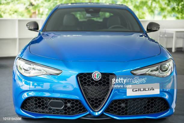 Exhibition of Alfa Romeo Giulia during of Turin Motor Show 2018