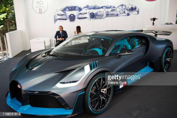 Exhibition of Bugatti Divo at the Parco Valentino Motor Show on June 19 2019 in Turin Italy
