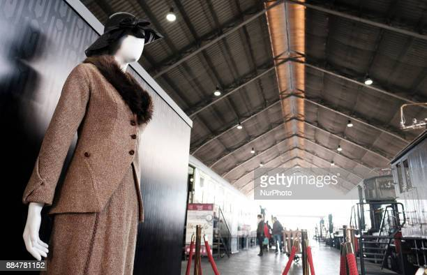 Exhibition of costumes from the film adaptation of Agatha Christie's 'Murder on the Orient Express' at the Museo del Ferrocarril in Madrid Spain