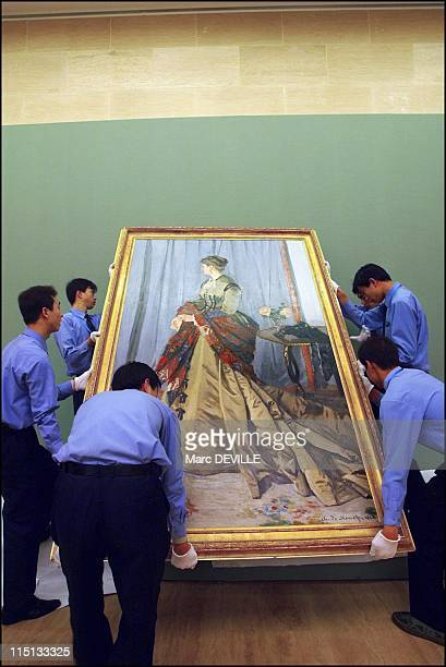 Exhibition of impressionists from French national collections installed at Beijing's Fine Arts Palace as part of the Year of France in China in...