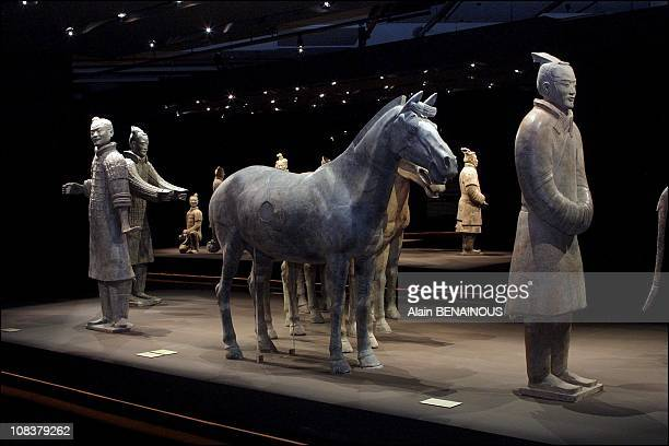 Exhibition of 'Les guerriers de premier empereur chinois Qin Shinhuangdi' in Monaco on July 17 2001