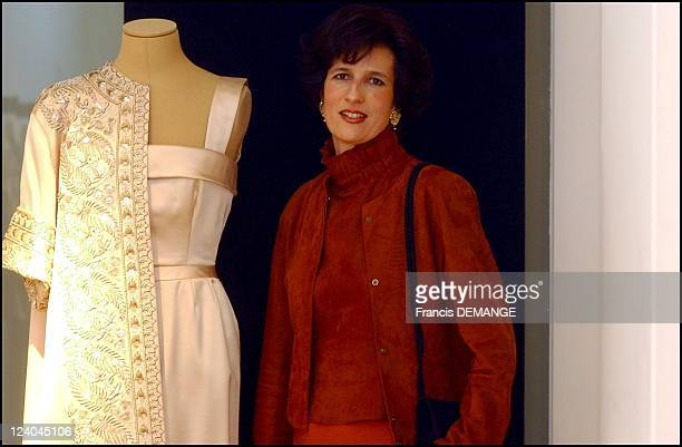 Exhibition of Princess Lilian of Belgium's dresses at fashion designer Natan's, before they are auctioned at Sotheby's in London, in Brussels,...