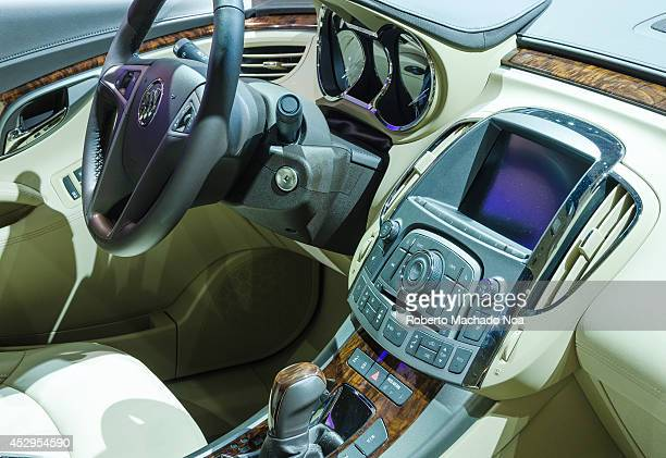 Exhibition of the interior of a 2013 Lacrosse eAssist Luxury during the Toronto's International Auto Show 2013. The show is arriving to 40 years this...