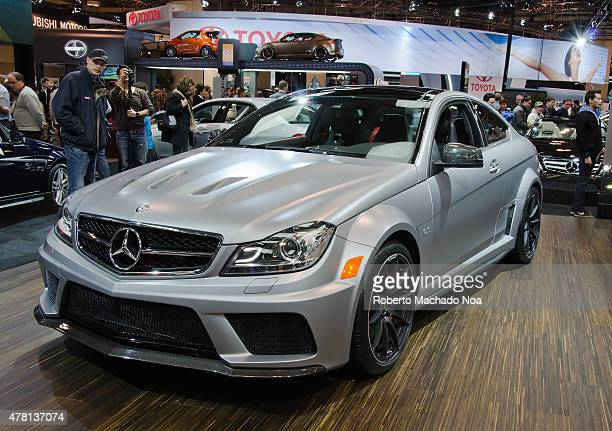 CENTRE TORONTO ONTARIO CANADA Exhibition of the Mercedes Benz C63 AMG Coupe during the Canadian International Auto Show in the Toronto Convention...