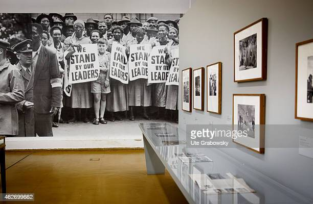 Exhibition Rise and Fall of Apartheid at the Museum Africa in Johannesburg on November 20 2014 in Johannesburg South Africa Apartheid was a system of...