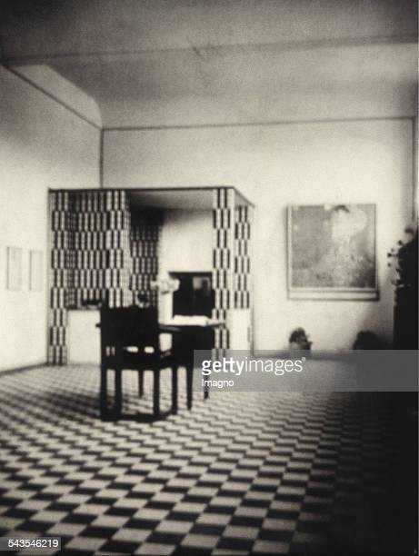 Exhibition Room of the Wiener Werkstätte in the International Art Exhibition in the Kunsthalle Mannheim 1907 Design by Josef Hoffmann On the right...