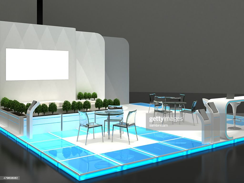 Exhibition Stand Interiors : Exhibition stand interior exterior sample stock photo getty images