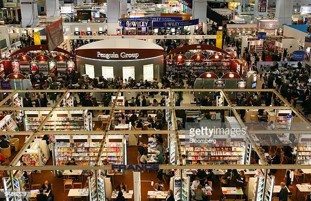 Exhibitor booths fill Earl's Court during the London Book Fair in London UK on Tuesday April 15 2008 The London Book Fair is the global publishing...