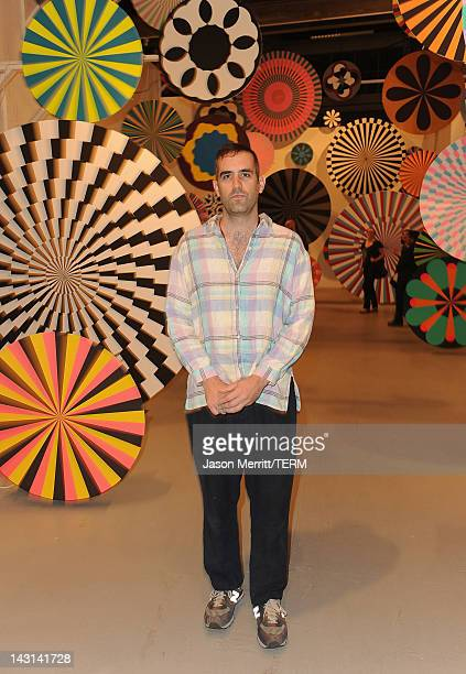 Exhibitor Jim Drain attends MercedesBenz Transmission LA AV CLUB Curated by Mike D at The Geffen Contemporary at MOCA on April 19 2012 in Los Angeles...