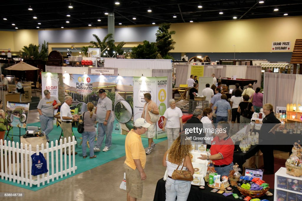 Exhibitors At The Home Design And Remodeling Show At Miami Beach Convention  Center.