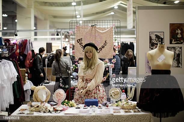 Exhibitors at the Hyper Japan 2012 Event at the Earls Court Exhibition Centre on February 24 2012 in London England The show is the UK's biggest...