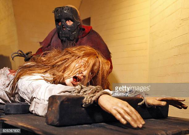 Exhibits during the 'Medieval Executions and Punishments' exhibition in Kiev Ukraine 07 October 2015 More two hundred exhibits and genre scenes were...