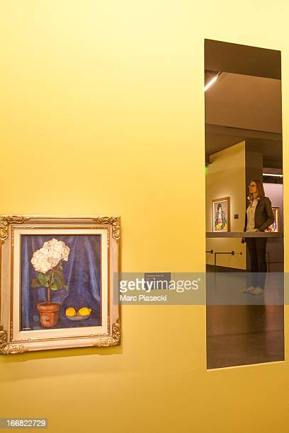 Exhibits on display at the Exhibition 'Tamara de Lempicka Queen of the Art Deco' exhibition opening at La Pinacotheque on April 17 2013 in Paris...
