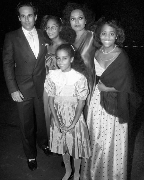 Ex-husband Robert Silberstein joins Diana Ross and children