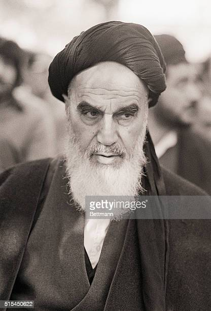 Exiled Ayatollah Khomeini at Neauphle le Chateau in France