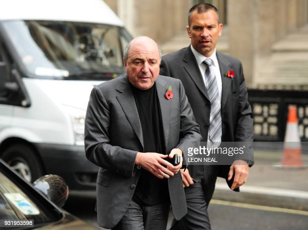 Exiled Russian businessman Boris Berezovsky is pictured during a break in proceedings at the High Court in London on November 2 2011 Berezovsky is...