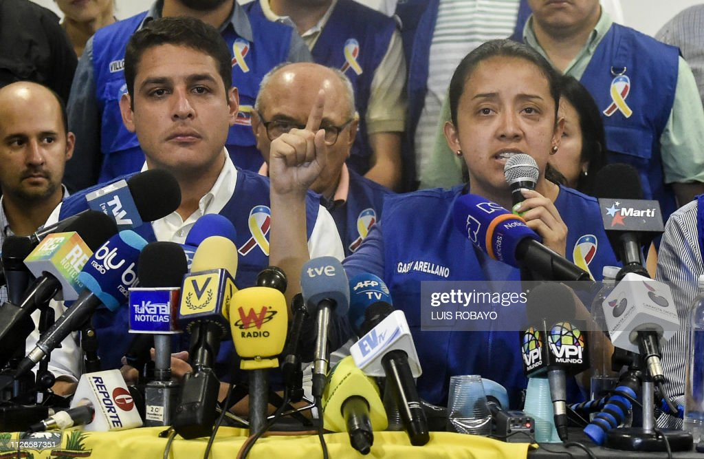 COLOMBIA-VENEZUELA-CRISIS-OPPOSITION-AID : News Photo