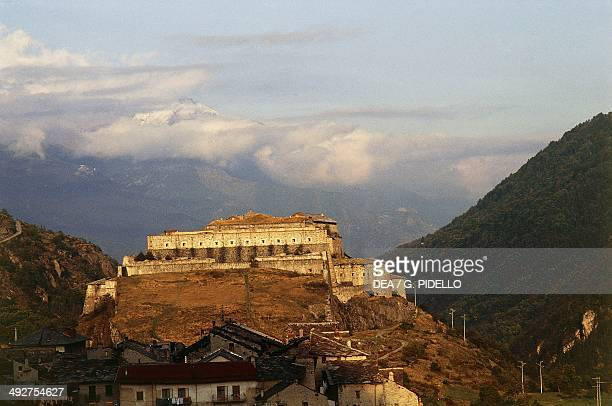 Exilles Fort 14th19th century Susa Valley Piedmont Italy