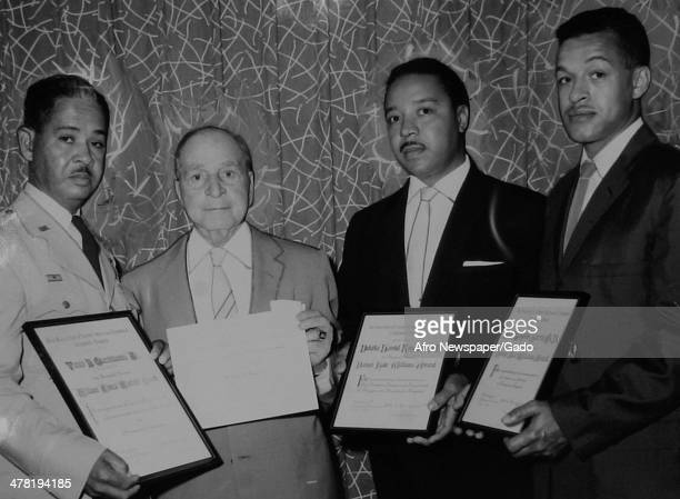 Ex-interns are honored with plaques at the Association of Former Internes and Residents of Freedmen's Hospital banquet, Washington DC, June 8, 1961....
