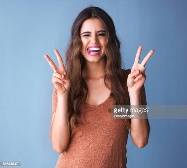 exist to be happy not to impress - peace symbol stock photos and pictures