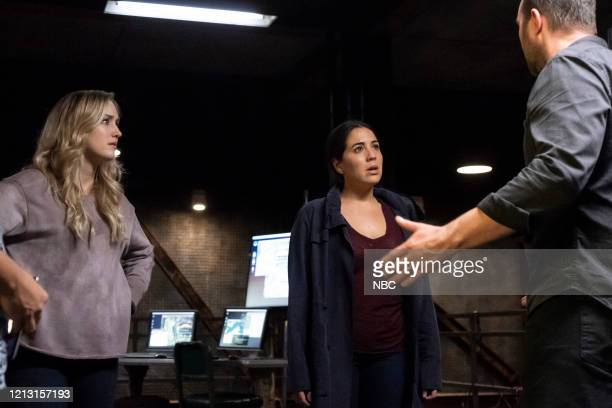 BLINDSPOT Existential Ennui Episode 503 Pictured Ashley Johnson as Patterson Audrey Esparza as Tasha Zapata Sullivan Stapleton as Kurt Weller