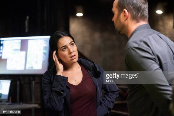 BLINDSPOT Existential Ennui Episode 503 Pictured Audrey Esparza as Tasha Zapata Sullivan Stapleton as Kurt Weller