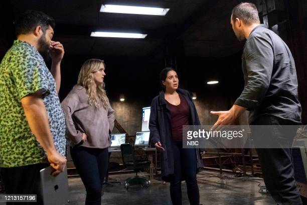 BLINDSPOT Existential Ennui Episode 503 Pictured Ennis Esmer as Rich Dotcom Ashley Johnson as Patterson Audrey Esparza as Tasha Zapata Sullivan...