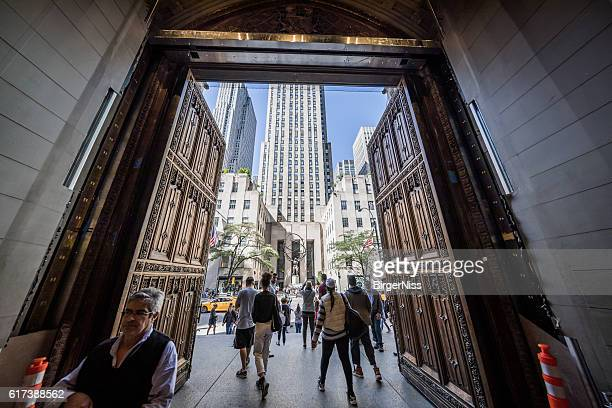 Exit from St. Patrick's Cathedral, New York City, USA