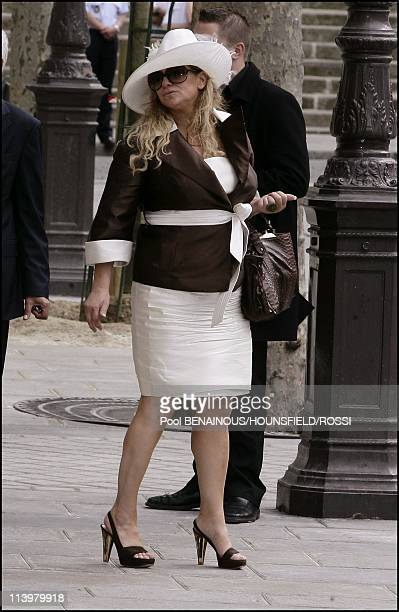 Exit of civil wedding of Eva Longoria and Tony Parker In Paris France On July 06 2007Pamela Firestone mother of Tony Parker