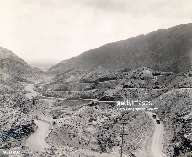 Exit of the Pass into the Peshwar Plains showing the roads North West Frontier Pakistan 1919