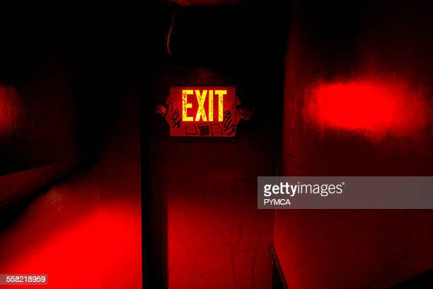 Exit sign Low End Theory Club Los Angeles