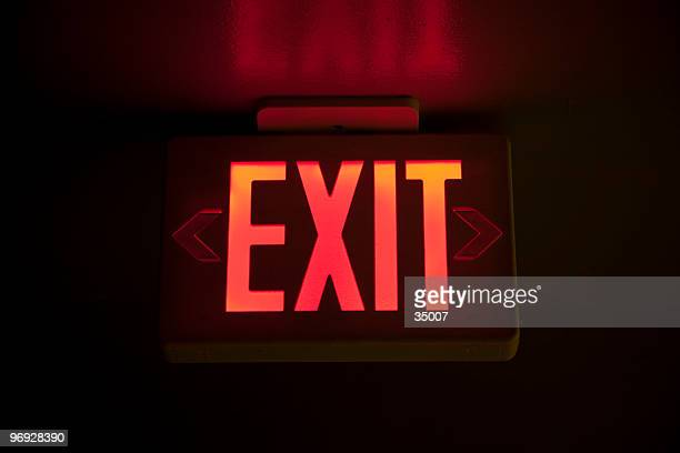 exit sign - exit sign stock pictures, royalty-free photos & images