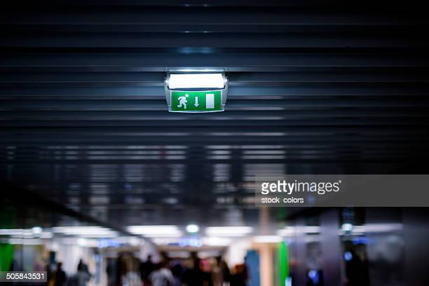 exit way - evacuation stock pictures, royalty-free photos & images