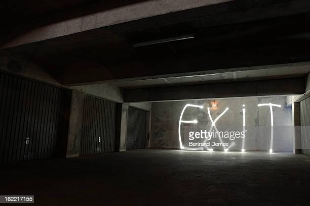 'Exit' write in light