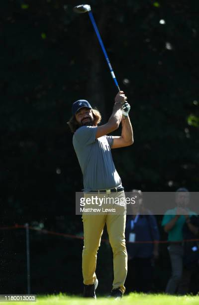 ExItalian footballer Andrea Pirlo in action during a ProAm ahead of the Italian Open at Olgiata Golf Club on October 09 2019 in Rome Italy