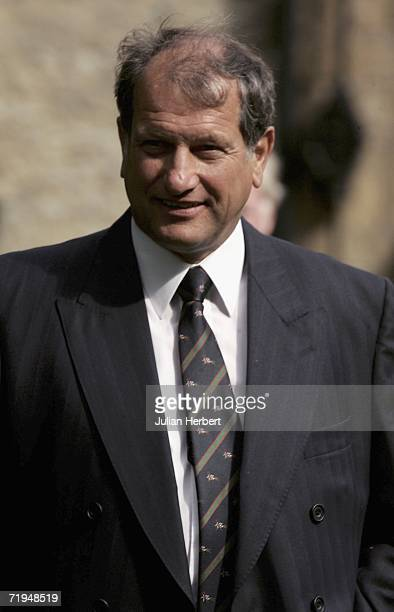 Exjockey Bob Champion arrives at St Edward's Church for the memorial service for trainer David Nicholson who died recently September 20 2006 in...