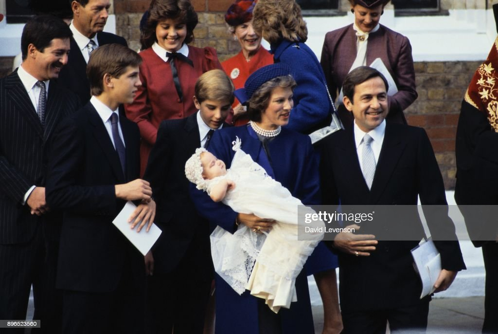 Greek Royal Family at Christening of Princess Theodora in 1983 : News Photo