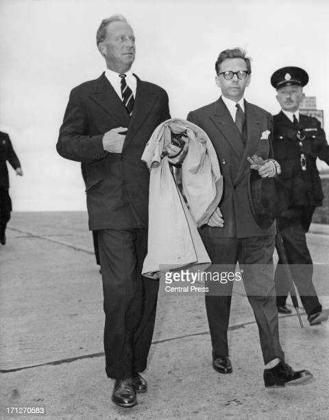 ExKing Leopold III of Belgium arrives at London Airport 11th July 1957