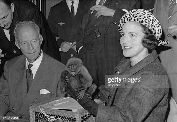 ExKing Leopold III of Belgium has returned to Paris after his month spent exploring the Brazilian jungle He was met at Orly Airport by his wife...