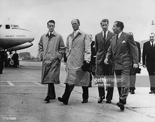 ExKing Leopold III of Belgium seen leaving Brussels Airport to fly to Ireland to attend a ceremony with the 5th Inniskilling Dragoons of which he is...