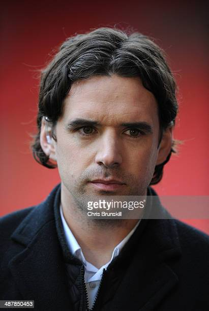 ExManchester United player Owen Hargreaves looks on during the Barclays U21 Premier League Semi Final match between Liverpool and Manchester United...