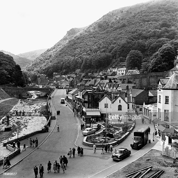 Exmoor England A general picture of the town of Lynmouth The village was badly damaged by floods in 1952 Repairs are still underway in some areas