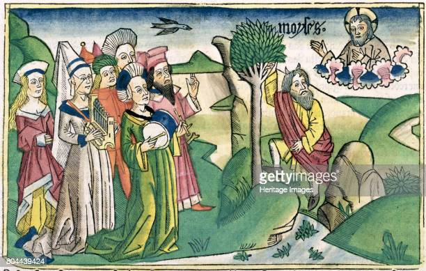 119 the song of Moses Facsimile copy of a 15th century manuscript of the German School Artist Unknown