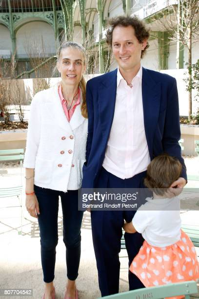 Exor CEO John Elkann with his wife Lavinia Borromeo and their daugter attend the Chanel Haute Couture Fall/Winter 20172018 show as part of Haute...