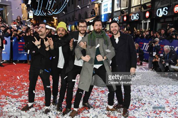ExOtago walks the red carpet of the 69 Sanremo Music Festival Preview at Teatro Ariston on February 04 2019 in Sanremo Italy