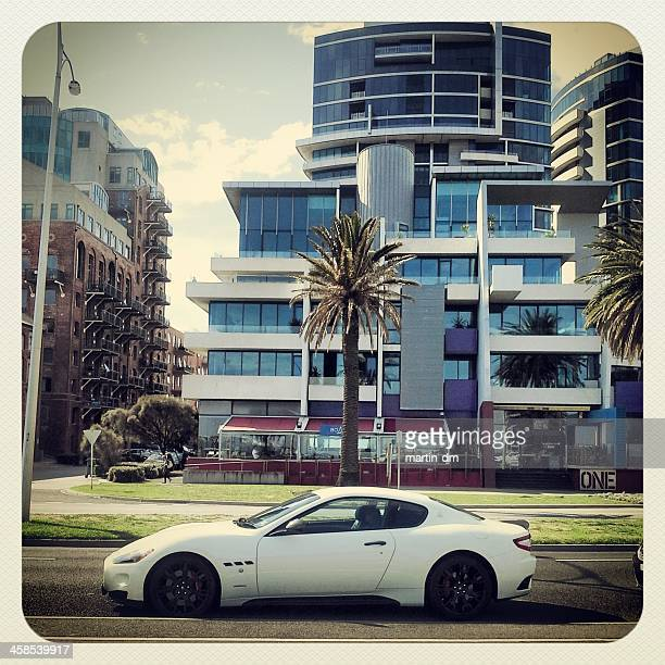 exotic city - maserati stock pictures, royalty-free photos & images