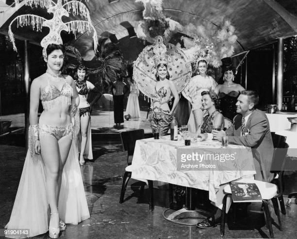 Exotic dancers at the Tropicana nightclub in Havana Cuba circa 1955