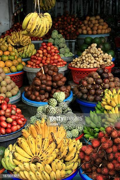 Exotic Fruit at Asian Fruit Market in Bali Indonesia